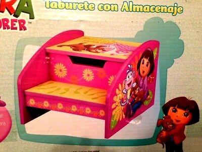 PRINCESS~DORA PUPPY~GIRLS~BED-BATHROOM~STORAGE WODDEN TOYS BOX~STEP STOOL BENCH