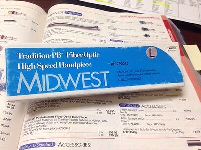 Midwest Tradition Push Button Fiber Optic Handpiece New In Box