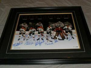 THE TRADE Boston Chicago Signed Hockey Print or Hocke Bobblehead