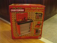 NEW My First Craftsman Rolling KIDS Tool Bench SET SEALED BOX