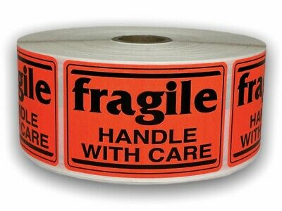 Brred Fragile Handling Care Shipping Caution Stickers 2x3 1000 Labels