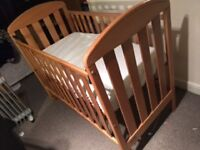 Cot Bed with Mattress (mamma & Pappa)