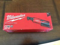 Milwaukee 2457-20 M12 3/8 Drive Cordless Ratchet (Tool Only)12V Brand New in Box 2018