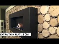 Bio ethanol Fireplace DELTA BLACK FLAT biofireplace bioethanol