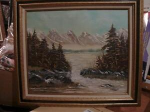 Oil Painting Land Scape C.R. Billett-Please Check all other Ad's