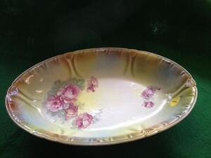 OVAL GREEN SERVING DISH  reduced