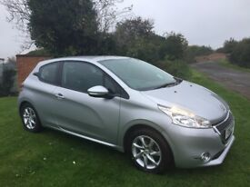 PEUGEOT 208 1.2 Active, Full Service History, MOT Oct 2018, Stunning Condition (silver) 2013