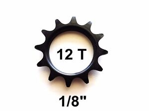 12T COG FIXED GEAR TRACK 12 TOOTH 1/8 INCH 1/8