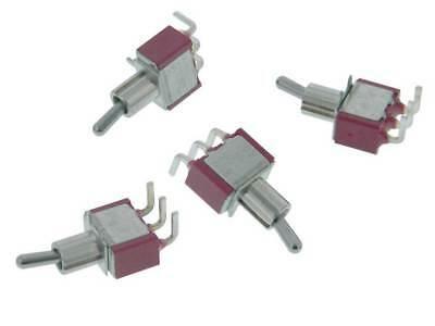 Spdt On-on Mini Toggle Switch Pc Mount Pack Of 4 35252 Sw