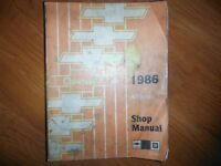 1986 Chevrolet Sprint Factory OEM Service  Manual