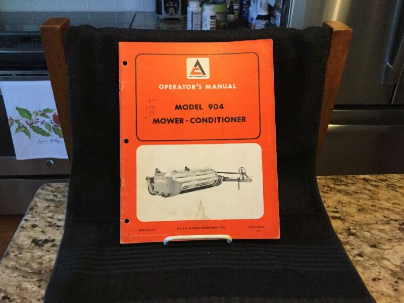 1970's Vintage Allis Chalmers Model 904 Mower-Conditioner Operator Manual - VG
