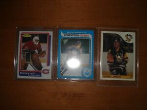 GRETZKY, LEMIEUX, ROY ROOKIE REPRINTS