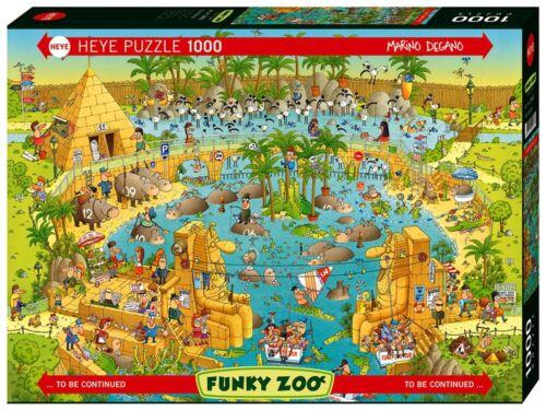 Heye 1000 Piece Jigsaw Puzzle - Funky Zoo: African Habitat