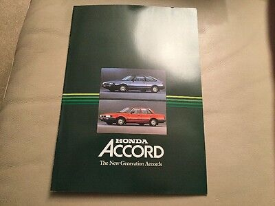 Honda Accord Brochure 1980s