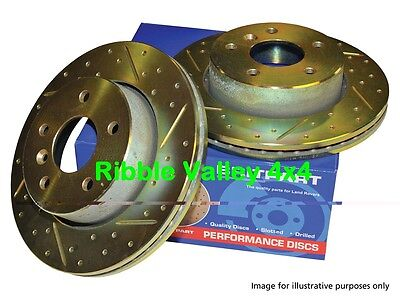 LAND ROVER DISCOVERY 2 & TD5 GROOVED DRILLED FRONT BRAKE DISCS PAIR DA4606