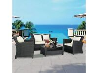 **FREE & FAST UK DELIVERY** 4 Piece Classy Wicker Weave Outdoor Rattan Set - BRAND NEW!