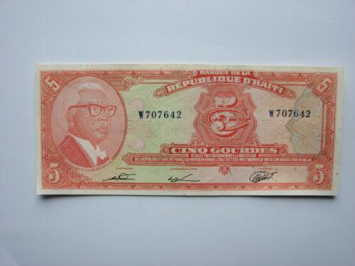 Haiti 5 Gourdes, Duvalier, 1973 - Pick 212