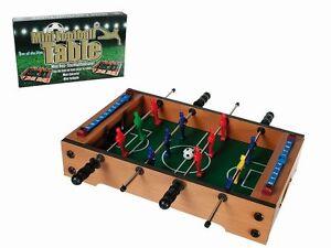 Legno-Calcio-Da-Tavolo-Palle-Biliardino-Mini-Calcio-Kicker-Biliardino-33x21cm