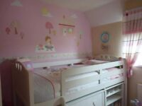 Girls 'Next' Midsleeper Combination bed