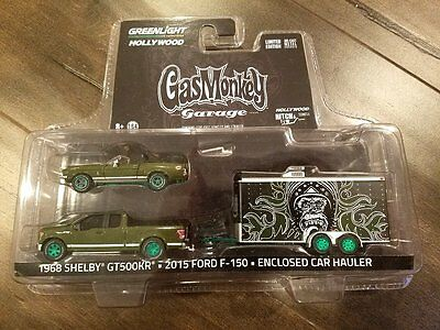 GREENLIGHT GAS MONKEY GARAGE 1968 SHELBY GT500KR 2015 FORD F-150 31010-A CHASE