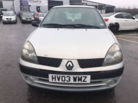 RENAULT CLIO AUTHENTIQUE 8V (silver) 2003