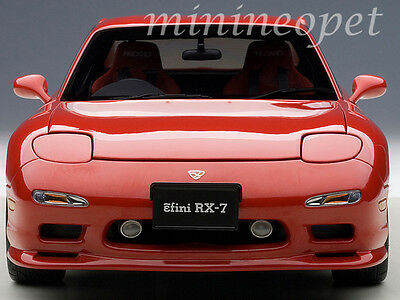 - AUTOart 75969 MAZDA RX-7 (FD) TUNED VERSION 1/18 DIECAST MODEL CAR VINTAGE RED