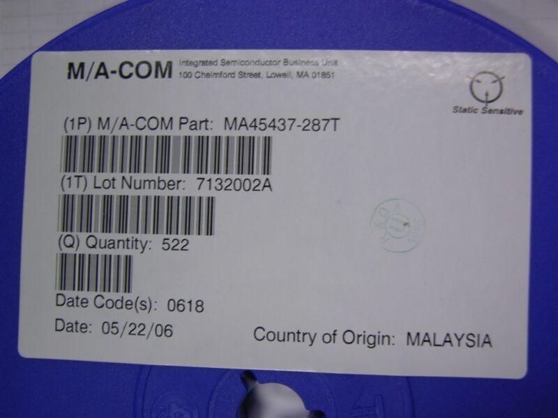 10 Ma-Com MA45437-287T Si Abrupt Tuning Varacter Diodes SOT-23