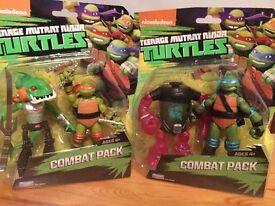2 TMNT Ninja Turtles Rare Combat Packs