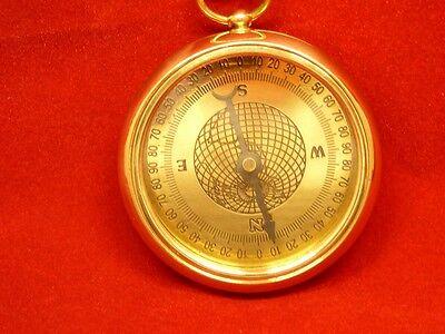 "Kompass Taschenkompass ""Stanley"" Messing Ø 5 cm"