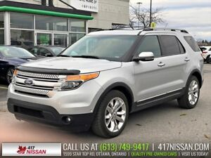 2012 Ford Explorer Limited 4WD | Navi, Pano Moonroof, Leather