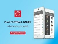 """Site/App to discover and play football games """"Footy Addicts"""""""