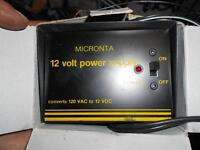 12 volt power supply  converts 120 vac to 12 volt vdc  asking 30
