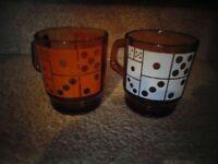 Pair of Anchor Hocking Coffee Mugs