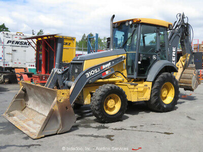 2012 John Deere 310sj Backhoe Wheel Loader Tractor Cab Mp 4-1 Bucket Epa Bidadoo