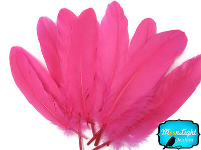 1/4 lb - Hot Pink Goose Satinettes Wholesale Loose Wing Feathers Craft - Wholesale Craft Suppliers