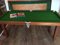 Pool table, good condition with pool and also snooker balls and table top