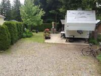 Shuswap Lake - Scotch Creek BC - Caravans West RV Resort Lot 48
