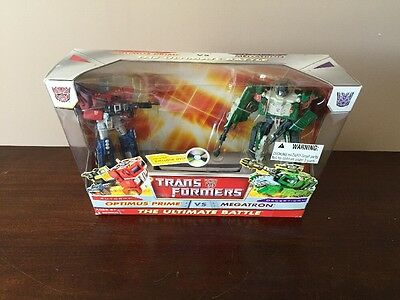 2010 Transformers The Ultimate Battle Optimus Prime & Megatron New in Box (Transformers The Ultimate Battle)