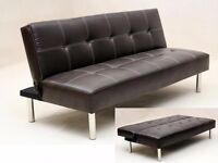 50% off Brand New Natalia Faux Leather Sofa Bed // ** Same day Delivery ***