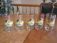 collection  de  verres de  WALT DISNEY