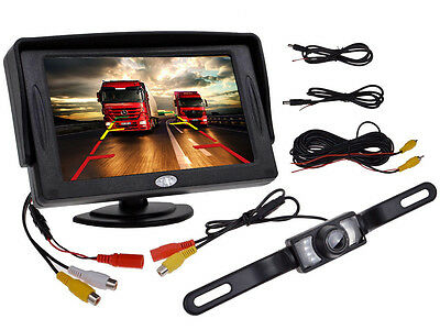 4 3  Tft Lcd Monitor Car Rear View System Backup Reverse W  Night Vision Camera
