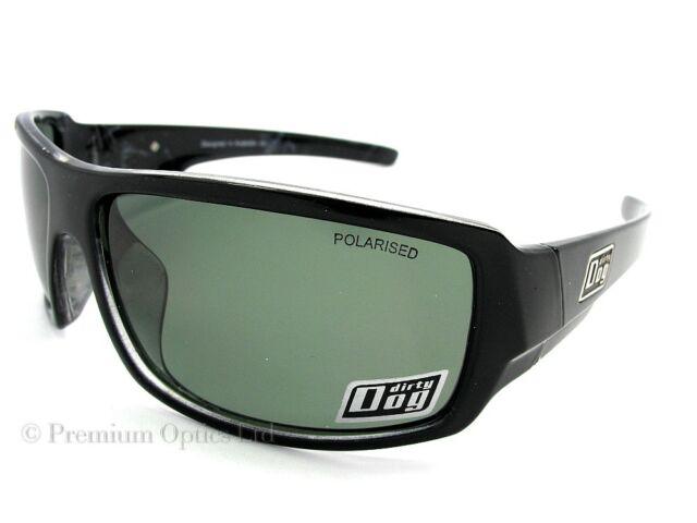 DIRTY DOG Polarised BUBBA Sunglasses Black Marble / Green POLARIZED 53003