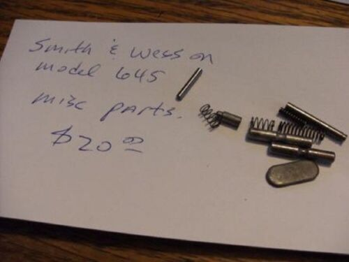 Smith Wesson 645 Parts group#1, Silver finish. Factory made part.