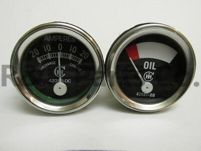 Oil Amp Gauge Set For Farmall Ih F12 14 20 F30 A Av B 1932-1946 43987db 42383dc