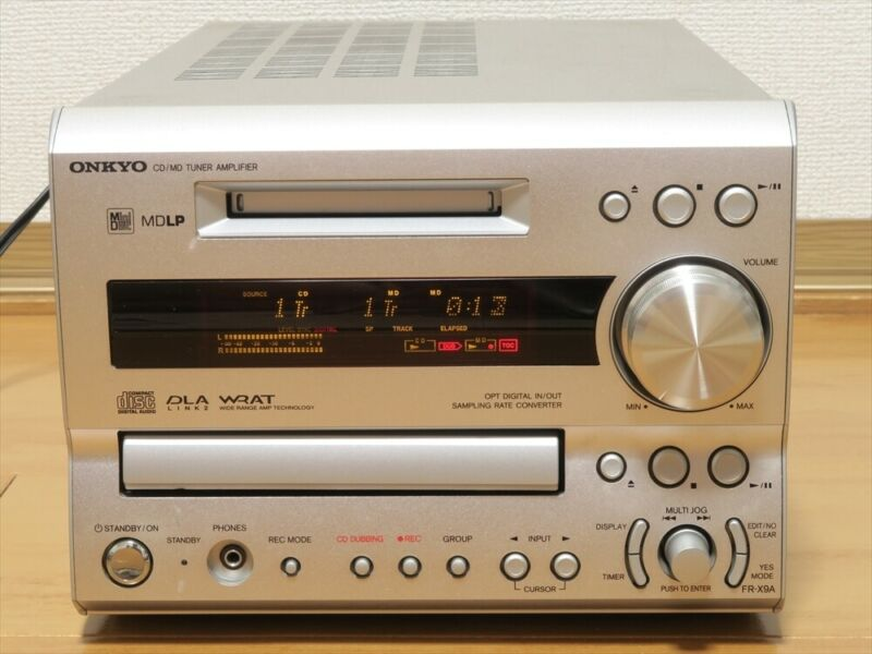 ONKYO FR-X9A CD MD Compact Disk Mini Disk Recorder Audio Deck w/Remote Works JP