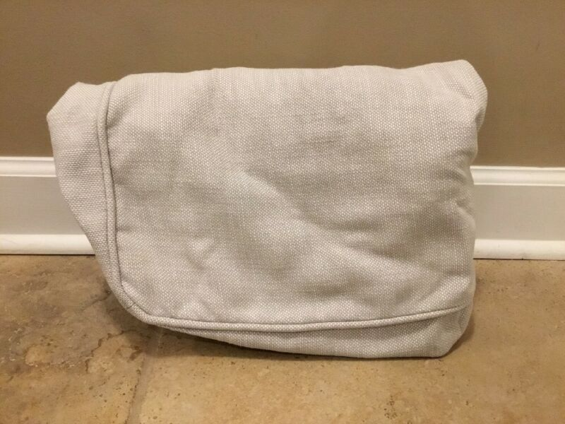 NEW Pottery Barn Kids Comfort Ottoman Cover Basketweave PUTTY