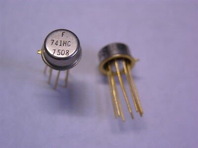 2 National Lm741ch Or Fairchild 741hc Operational Amplifier Ics To-99 Package