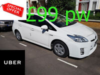 PCO Toyota Prius to rent Uber ready Fully Serviced Cars £99 PW New shapes Special offer