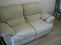 Bargain. Real leather 2 seater sofa