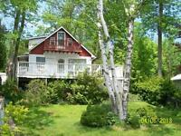 chesley lake, lakefront cottage, private dock